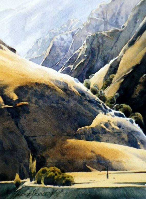 """Stony Creek Terrace, Skippers Canyon"" by Maurice Middleditch"