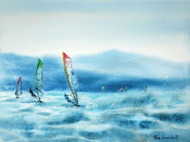 2nd Place: Windsurfing on Waves by Kasia Wiercinska