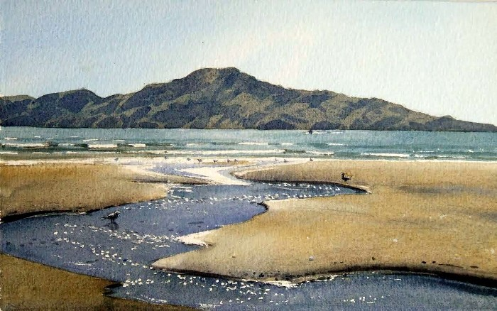 """Te Toki Stream Meandering Down to Kapiti"" by Alan Collins"